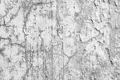Old concrete wall with peeling paint - background Royalty Free Stock Image