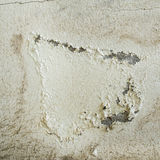 Old concrete wall with peeling paint. At outdoor Royalty Free Stock Photo