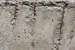 Old concrete wall with reinforcement bars Stock Photos