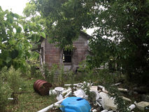 Old Condemned Haunted House Yard. Old Condemned Haunted House pictures are exactly were you would expect  to find ghosts demons and other nasty s of the night Stock Images