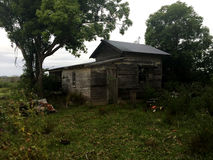 Old Condemned Haunted House Yard Royalty Free Stock Images