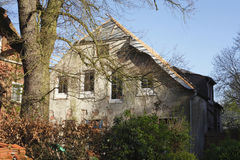Old condemned House. In Fischerhude, Germany Royalty Free Stock Photography