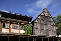 Old condemned wooden house. In Germany Royalty Free Stock Photos