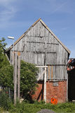 Old condemned wooden house. In Germany Stock Image