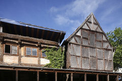 Old condemned wooden house. In Germany Royalty Free Stock Photography
