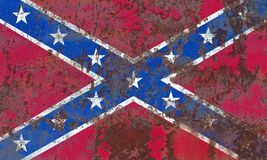 Old Confederate Navy Jack grunge background flag.  Royalty Free Stock Images