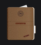 Old Confidential Folder. Clip-art, Illustration Royalty Free Stock Photography
