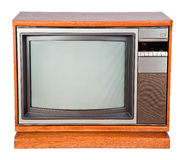 Old console television with clipping path. Stock Photo