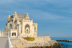 Old Constanta Casino and Harbor viewed from seafront Stock Images