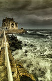 Old Constanta Casino and Harbor viewed from seafront Royalty Free Stock Images