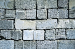 Old construction aerated concrete blocks Royalty Free Stock Photography