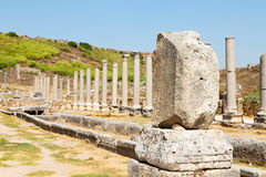 In    old construction asia turkey   and the roman temple Royalty Free Stock Image
