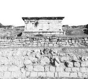 Old construction column    and the roman temple history pamukkal Stock Photos