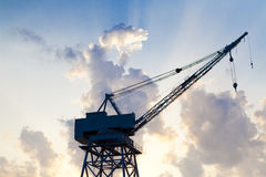 Old construction crane Stock Image