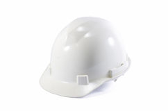 Old construction hat isolated on white Royalty Free Stock Photo