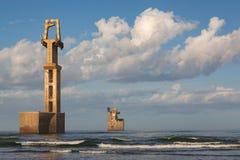 Old construction marina of Sidi Ifni Stock Image