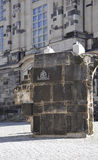Old Construction Stone from Dresden in Germany Royalty Free Stock Image