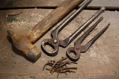 Old Construction Tools. Stock Photo