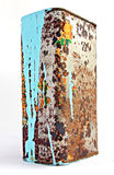 Old container with paint Royalty Free Stock Image