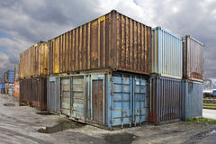 Old Containers Stock Photos