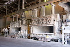Old continuous casting furnaces Stock Photography
