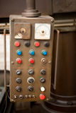 Old control panel. For machine tool Royalty Free Stock Images