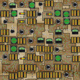 The old control panel. Retro control panel for devices, tools or machinery in an old factory Royalty Free Stock Images