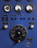 Old Control Panel. Detail of old nineteen-thirties control panel on a high power electricity generator Royalty Free Stock Photography