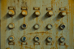 Old control panel. In an abandoned factory Stock Images