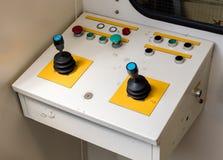 Old control panel, aviation bridge Stock Photos