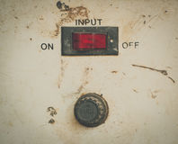 Old control panel button Stock Photography