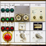 Old control panel. Detail of old  control panel on a high power electricity generator Royalty Free Stock Photography
