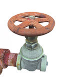 Old control valve isolated Stock Photo
