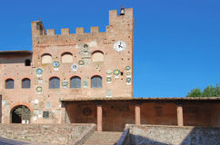 Old contruction. The city hall of Certaldo in Tuscany Royalty Free Stock Image