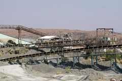 Old conveyor belts at the Premier diamond mine in Cullinan, South Africa Stock Images