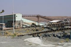 Old conveyor belts at the Premier diamond mine in Cullinan, South Africa Royalty Free Stock Photography