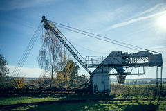 Old conveyor crane Royalty Free Stock Image