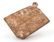 Old cook board. Vintage cutting board on a white background. 3d. Illustration Royalty Free Stock Image