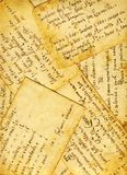 Old cookbook background. Old receipts of Italian cakes and bisquits, 1910 circa Royalty Free Stock Image