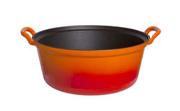 Old cooking pot isolated Stock Image