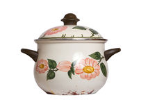 Old cooking pot isolated Royalty Free Stock Photography