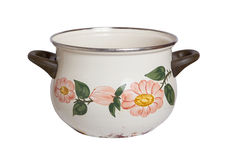 Old cooking pot isolated Royalty Free Stock Images