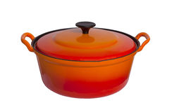 Old cooking pot isolated Royalty Free Stock Photos