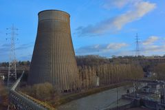 Old cooling tower Stock Image