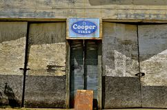 Old Cooper Tire advertising sign Stock Image