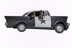 Old Cop Car Royalty Free Stock Photos