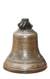 The old copper bell isolated on white background. The old copper Church bell isolated on white background Royalty Free Stock Images