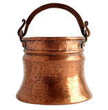 Old copper bucket Royalty Free Stock Photo