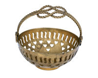 Old copper candy bowl Royalty Free Stock Photography