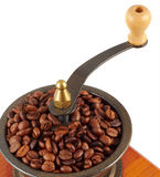 Old copper coffee grinder. On white background Royalty Free Stock Photos